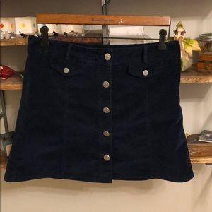 UO Button Down Corduroy Skirt
